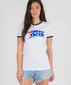 Speed Racer Show Flash Logo Ringer Tee