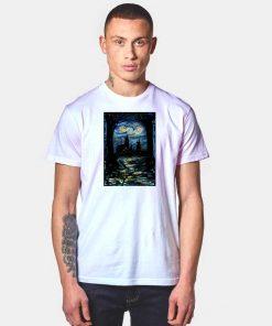 Starry Night Stars Over Hogwarts School T Shirt