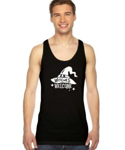 Witches Hat Welcome Halloween Night Tank Top