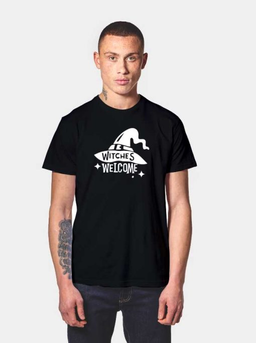 Witches Hat Welcome Halloween Night T Shirt