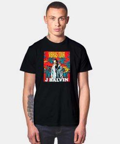 J Balvin Vibras Tour Dinosaur World T Shirt
