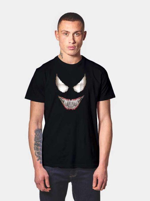 Marvel Venom Big Face Grin Halloween Logo T Shirt