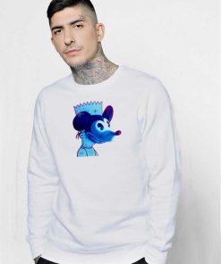 Mickey Mouse Bandit Mask Bart Simpson Sweatshirt