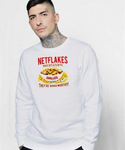 Netflakes Movie And TV Chilled Netflix Sweatshirt