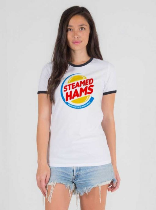 The Simpsons Steamed Hams Burger King Ringer Tee