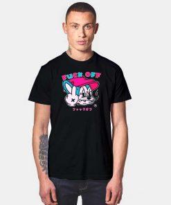 Fuck Off Japanese Cartoon Mouse T Shirt
