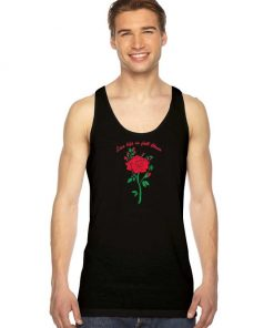 Live Life In Fall Bloom Red Rose Tank Top