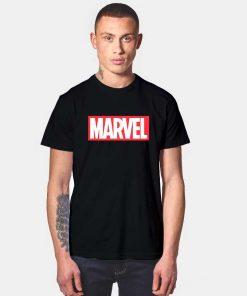 Marvel Classic Distressed Hero Logo T Shirt