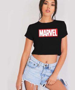 Marvel Classic Distressed Hero Logo Ringer Tee