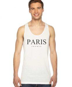 Paris France Nation Logo Tank Top