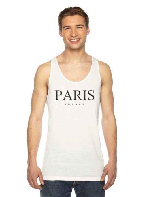 Paris France Nation Logo Tank Top