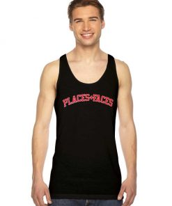 Places And Faces Logo Jersey Style Tank Top