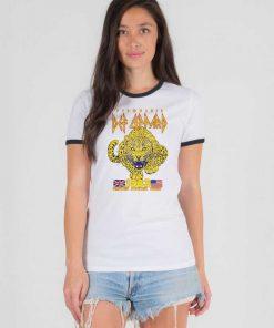 Pyromania Def Leppard 1983 Tour Ringer Tee