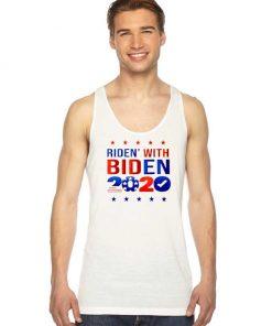 Ridin With Biden 2020 America Flag Tank Top