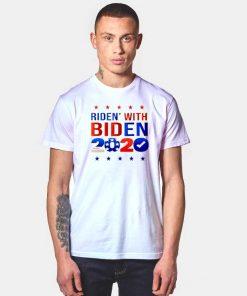 Ridin With Biden 2020 America Flag T Shirt