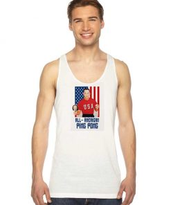 Forest Gump All American Ping Pong Flag Tank Top