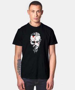 Ragnar Viking Hero Face Portrait T Shirt