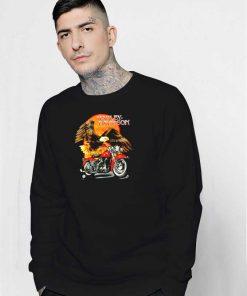 Eagle On Sunset Harley Davidson Sweatshirt