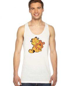 Garfield Hug A Teddy Bear Tank Top