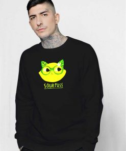Sourpuss Lemon Cat Glasses Sweatshirt