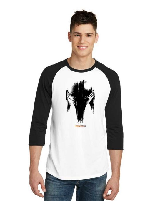 Star Wars The Mandalorian Dark Helmet Raglan Tee