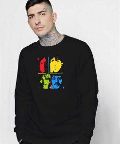 The Beatles Pop Art Collage Sweatshirt