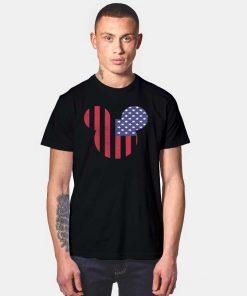 Disney Mickey Mouse Americana Flag T Shirt