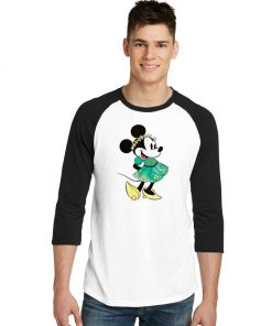 Disney Minnie Mouse Shamrock Dress Raglan Tee