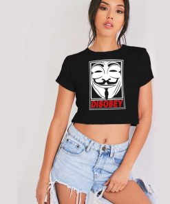 Disobey Anonymous Mask Crop Top Shirt