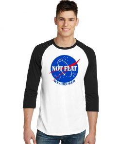 Nasa Not Flat We Checked Logo Raglan Tee