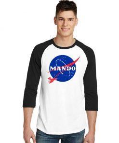 The Mando Race Nasa Logo Raglan Tee