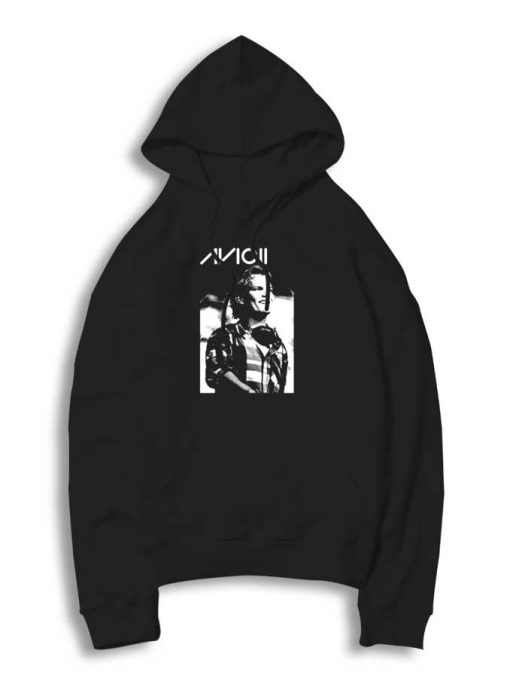 The Smiling Avicii Face Portrait Hoodie