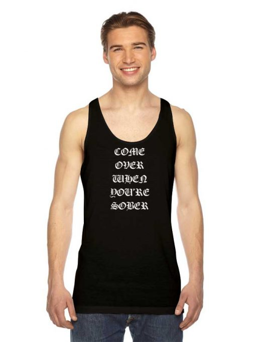 Come Over When You're Sober Lil Peep Tank Top
