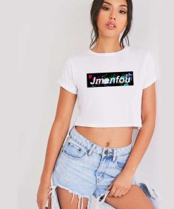 Jmenfou Flower Box Logo Crop Top Shirt