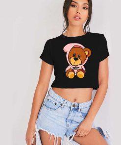 Justin Bieber Teddie Bear Hoodie Crop Top Shirt