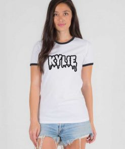 Kylie Jenner Dripping Quote Ringer Tee