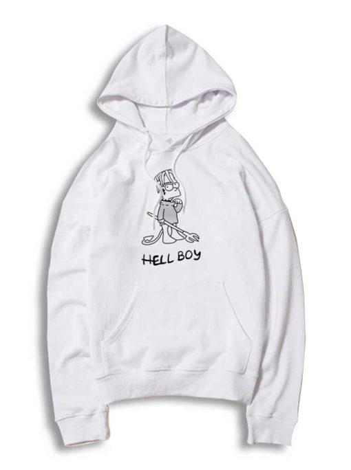 Lil Peep Hell Boy Bart Simpson Hoodie