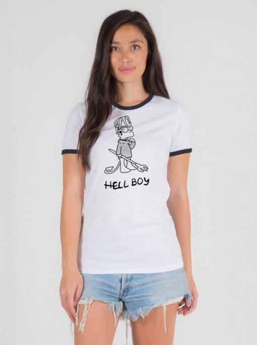 Lil Peep Hell Boy Bart Simpson Ringer Tee