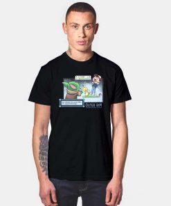 Baby Yoda Choke Ash T Shirt