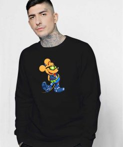 Biker Mickey Mouse Costume Sweatshirt