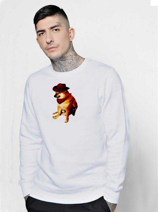 Cheems Doge Cowboy Dog Sweatshirt