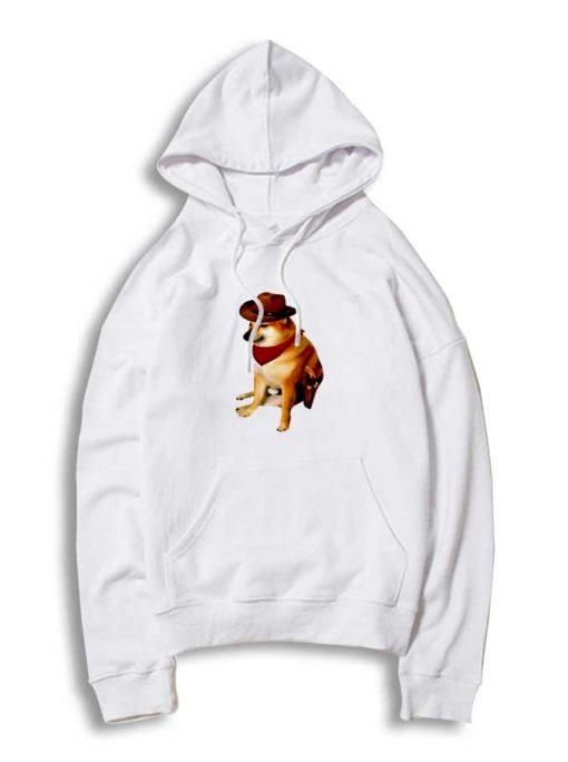 Cheems Doge Cowboy Dog Hoodie