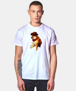 Cheems Doge Cowboy Dog T Shirt