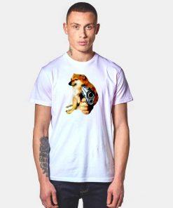 Cheems Doge Gun Pistol T Shirt