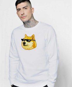 Doge Thug Life Glasses Sweatshirt