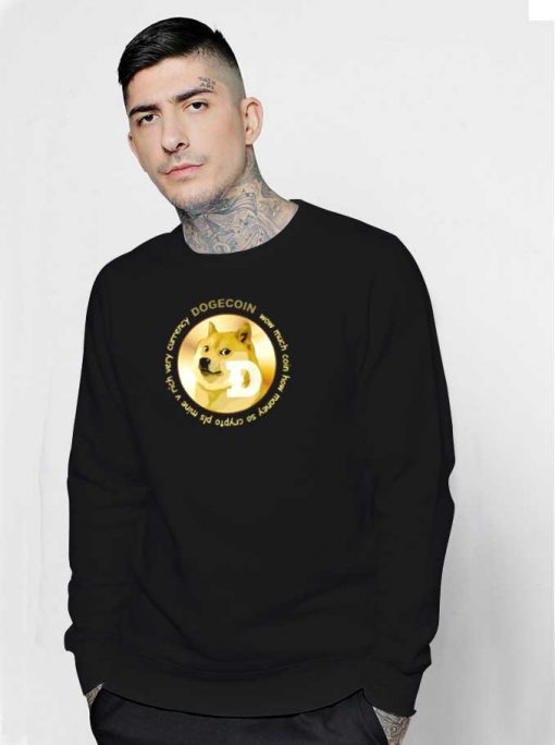 Dogecoin The Best Cryptocurrency Sweatshirt