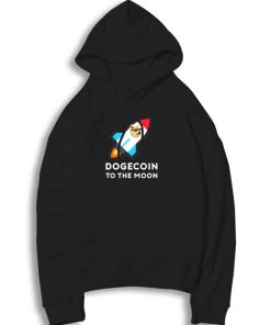 Dogecoin To The Moon Rocket Hoodie