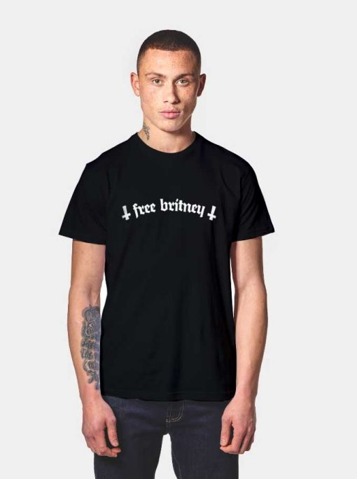 Free Britney Reverse Cross T Shirt