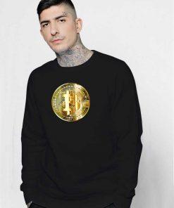 Golden Bitcoin Crypto Coin Sweatshirt