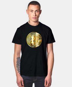 Golden Bitcoin Crypto Coin T Shirt